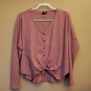 American Eagle Aerie Oversized Thermal Top